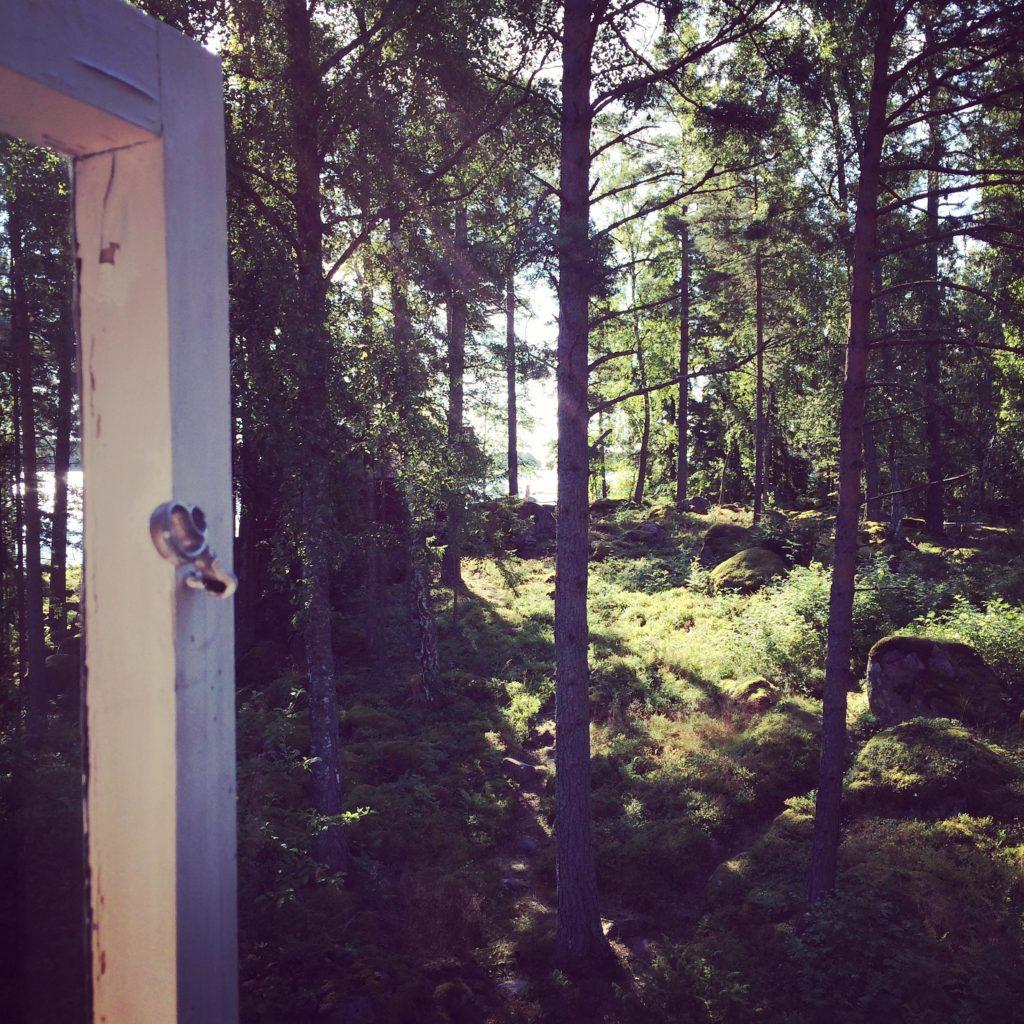 Sain avata ikkunan ja nuuhkia metsän tuoksua.